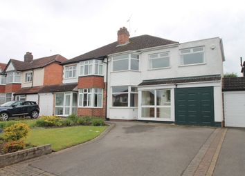 Thumbnail 4 bed semi-detached house for sale in Reservoir Road, Solihull