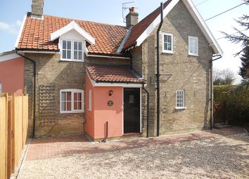 Thumbnail 3 bedroom semi-detached house for sale in Brettenham, Ipswich, Suffolk