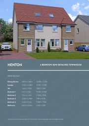 Thumbnail 4 bedroom town house for sale in Henton House Type, Ballochney Brae, Plains., Plains