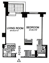 Thumbnail 1 bed property for sale in 200 Rector Place, New York, New York State, United States Of America