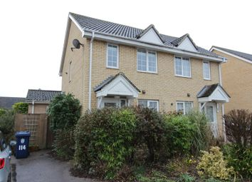 Thumbnail 2 bed semi-detached house for sale in Moat Way, Swavesey, Cambridge
