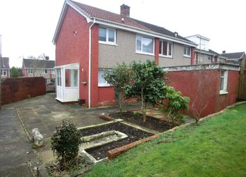 Thumbnail 2 bed semi-detached house for sale in Glyncollen Crescent, Ynysforgan, Swansea