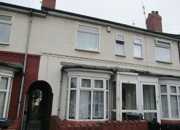 Thumbnail 3 bed terraced house to rent in Dora Road, Handsworth, Birmingham