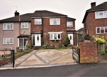 Thumbnail 4 bedroom semi-detached house for sale in Prestwood Drive, Collier Row, Romford