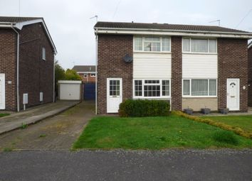 Thumbnail 2 bed semi-detached house to rent in Atterby Drive, Rossington, Doncaster
