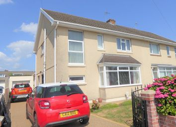 Thumbnail 3 bed semi-detached house for sale in St. Francis Road, Wildmill, Bridgend.