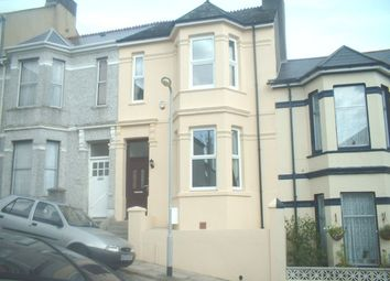 Thumbnail 4 bed terraced house to rent in Ivydale Road, Mutley, Plymouth