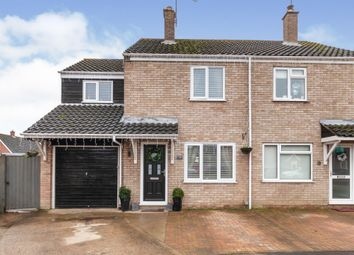 Thumbnail 3 bed semi-detached house for sale in Clark Road, Ditchingham, Bungay
