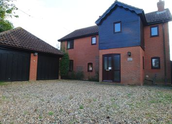 Thumbnail 4 bed detached house to rent in Vicarage Road, Wingfield, Diss