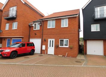 Thumbnail 3 bed link-detached house for sale in Thorney Hall Close, Stowmarket