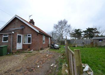 Thumbnail 2 bedroom detached bungalow for sale in Church Lane, Stanfield, Dereham, Norfolk.