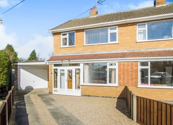 Thumbnail 3 bedroom semi-detached house for sale in Lichfield Drive, Blaby, Leicester