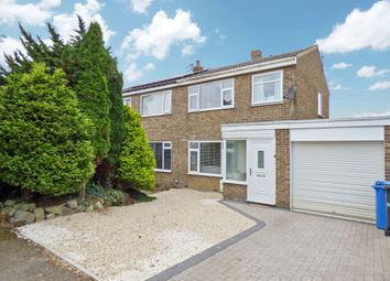 Thumbnail 3 bed semi-detached house for sale in Butterwell Drive, Pegswood, Morpeth