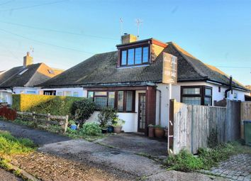 Thumbnail 2 bed semi-detached bungalow for sale in Sherwood Road, Seaford, East Sussex