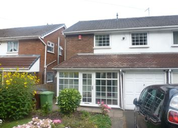 Thumbnail 3 bedroom semi-detached house for sale in Raymond Close, Walsall