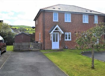 Thumbnail 2 bed semi-detached house for sale in 8, Plantation Close, Plantation Lane, Newtown, Powys