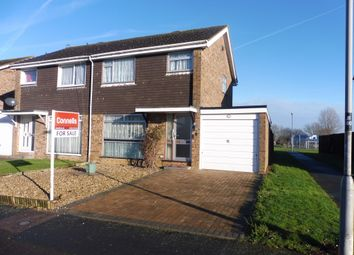 Thumbnail 3 bed semi-detached house for sale in Byron Drive, Newport Pagnell