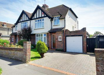 Thumbnail 3 bed semi-detached house for sale in Oldfield Crescent, Southwick, West Sussex