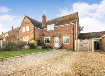 Thumbnail 3 bed semi-detached house for sale in Drury Lane, Carbrooke, Thetford