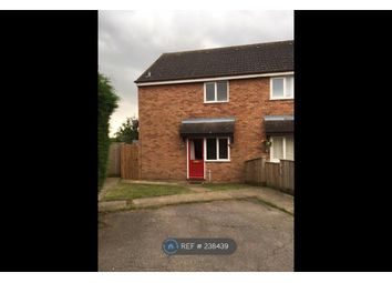 Thumbnail 1 bedroom end terrace house to rent in Drake Close, Stowmarket