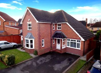 Thumbnail 4 bedroom detached house for sale in Holly Court, Oadby, Leicester