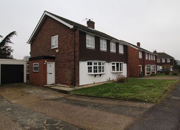 Thumbnail 3 bed semi-detached house for sale in Denman Drive, Ashford