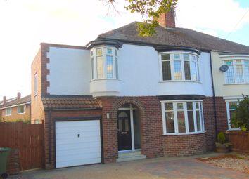 Thumbnail 4 bedroom semi-detached house for sale in Hartburn Avenue, Stockton-On-Tees