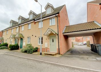 Thumbnail 3 bed town house for sale in Canberra Road, Carbrooke, Thetford
