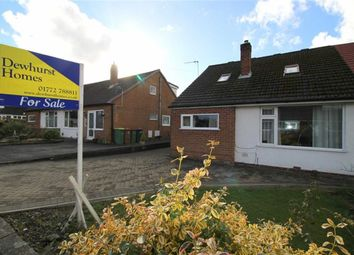 Thumbnail 3 bed semi-detached bungalow for sale in Menai Drive, Fulwood, Preston