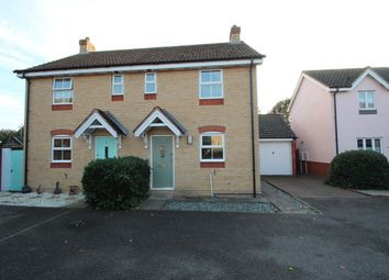 Thumbnail 2 bed semi-detached house for sale in Cooper Close, Saxmundham