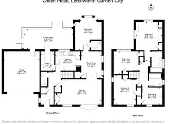 Thumbnail 5 bed detached house for sale in Olden Mead, Letchworth Garden City