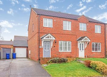 Thumbnail 3 bed semi-detached house for sale in Bishop Close, Dunholme, Lincoln
