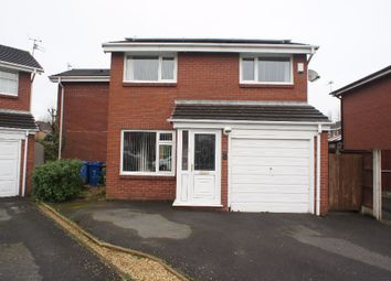 Thumbnail 4 bed detached house for sale in Hereford Close, Woolston, Warrington