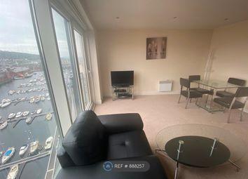 Thumbnail 1 bed flat to rent in Meridian Tower Trawler Road, Maritime Quarter, Swansea