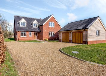 Thumbnail 5 bed detached house for sale in Station Road, Flordon, Norwich