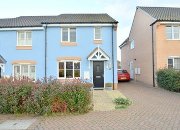 Thumbnail 3 bed end terrace house for sale in Crown Field Road, Glemsford, Sudbury
