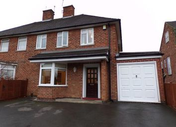 Thumbnail 3 bed semi-detached house for sale in Woodland Drive, Braunstone Town, Leicester, Leicestershire