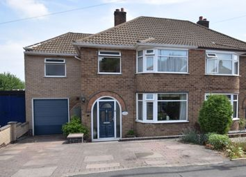 Thumbnail 4 bed semi-detached house for sale in Woodgate Drive, Birstall, Leicester
