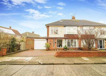Thumbnail 4 bed semi-detached house for sale in Millview Drive, Tynemouth, Tyne And Wear