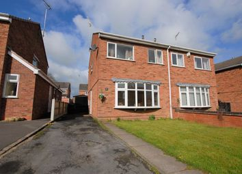 Thumbnail 3 bed semi-detached house for sale in The Lawns, Uttoxeter