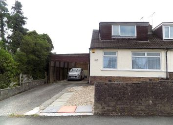 Thumbnail 3 bed semi-detached bungalow for sale in Merlin Crescent, Cefn Glas, Bridgend.