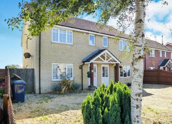Thumbnail 3 bedroom semi-detached house for sale in Station Avenue, Murrow, Wisbech