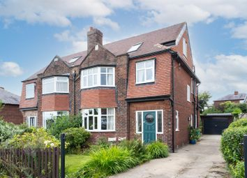 Thumbnail 4 bed semi-detached house for sale in Primley Park Grove, Alwoodley, Leeds