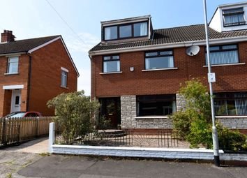 Thumbnail 4 bedroom semi-detached house for sale in Helgor Park, Belmont, Belfast