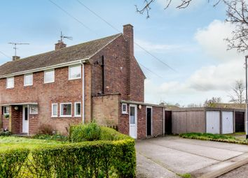 Thumbnail 3 bed semi-detached house for sale in Hereward Avenue, Mildenhall, Bury St. Edmunds