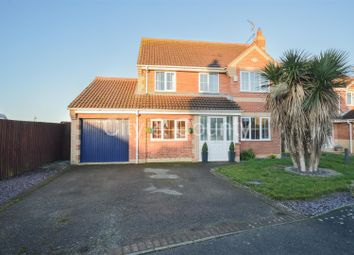 Thumbnail 4 bed detached house for sale in Beccelm Drive, Crowland, Peterborough