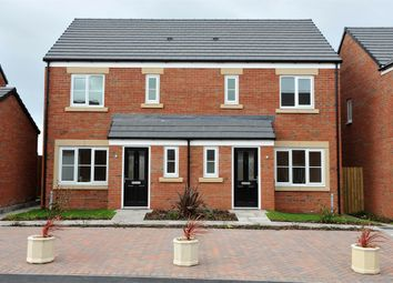 "Thumbnail 3 bed semi-detached house for sale in ""The Hanbury"" at Cottonwood Close, Bamber Bridge, Preston"