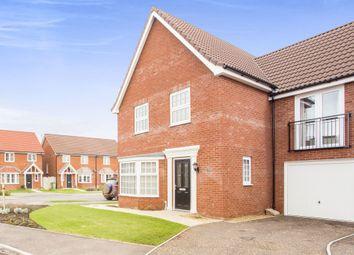 Thumbnail 4 bed link-detached house for sale in Barley Close, Watlington, King's Lynn