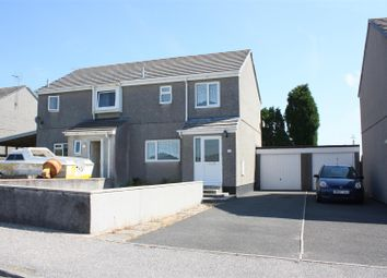 Thumbnail 2 bed semi-detached house to rent in Barton Road, Central Treviscoe, St. Austell