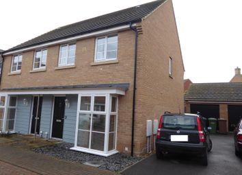 Thumbnail 3 bed semi-detached house for sale in Stonewort Avenue, Hampton Vale, Peterborough
